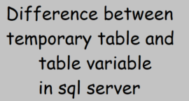 Difference between temporary table and table variable in sql server