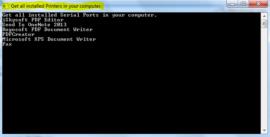 GetAllInstalledPrintersInCsharp-Output