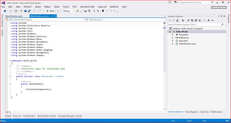 hello-world-wpf-step-by-step-Landing-window