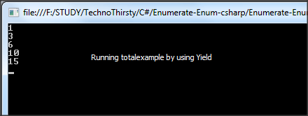 Running Total using Yield