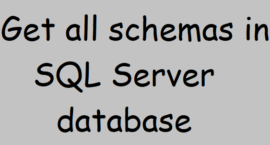 Get all schemas in SQL Server database